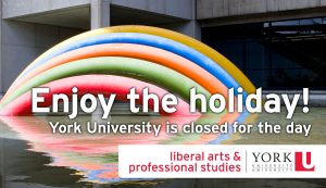 Civic Holiday: University Closed