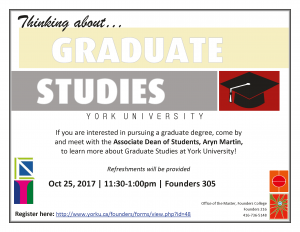 Want to Apply to Graduate Studies? @ 305 Founders