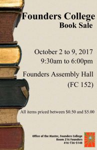 Founders College Book Sale @ 152 Founders Assembly Hall