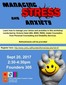Managing Stress and Anxiety Workshop @ 305 Founders |  |  |