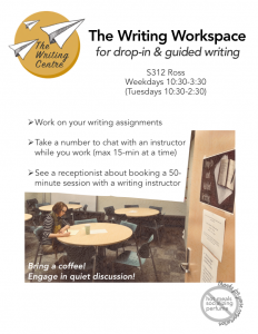 Drop-in and Guided Writing Room @ S312 Ross