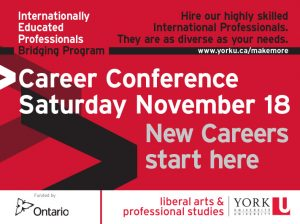 Your New Career–Discovering Trends and Opportunities Conference @ Vari Hall, York University | Toronto | Ontario | Canada