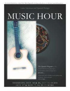 Latin American and Spanish: Music Hour! @ 201 Stong College (SC), York University | Toronto | Ontario | Canada