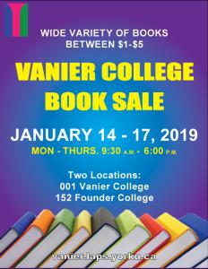 Vanier College's 15th Annual Book Sale @ 001 Vanier College & 152 Founders College | Toronto | Ontario | Canada