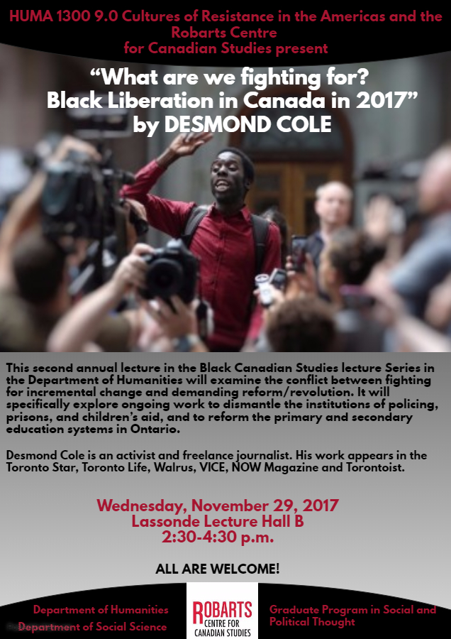 Desmond Cole in HUMA 1300