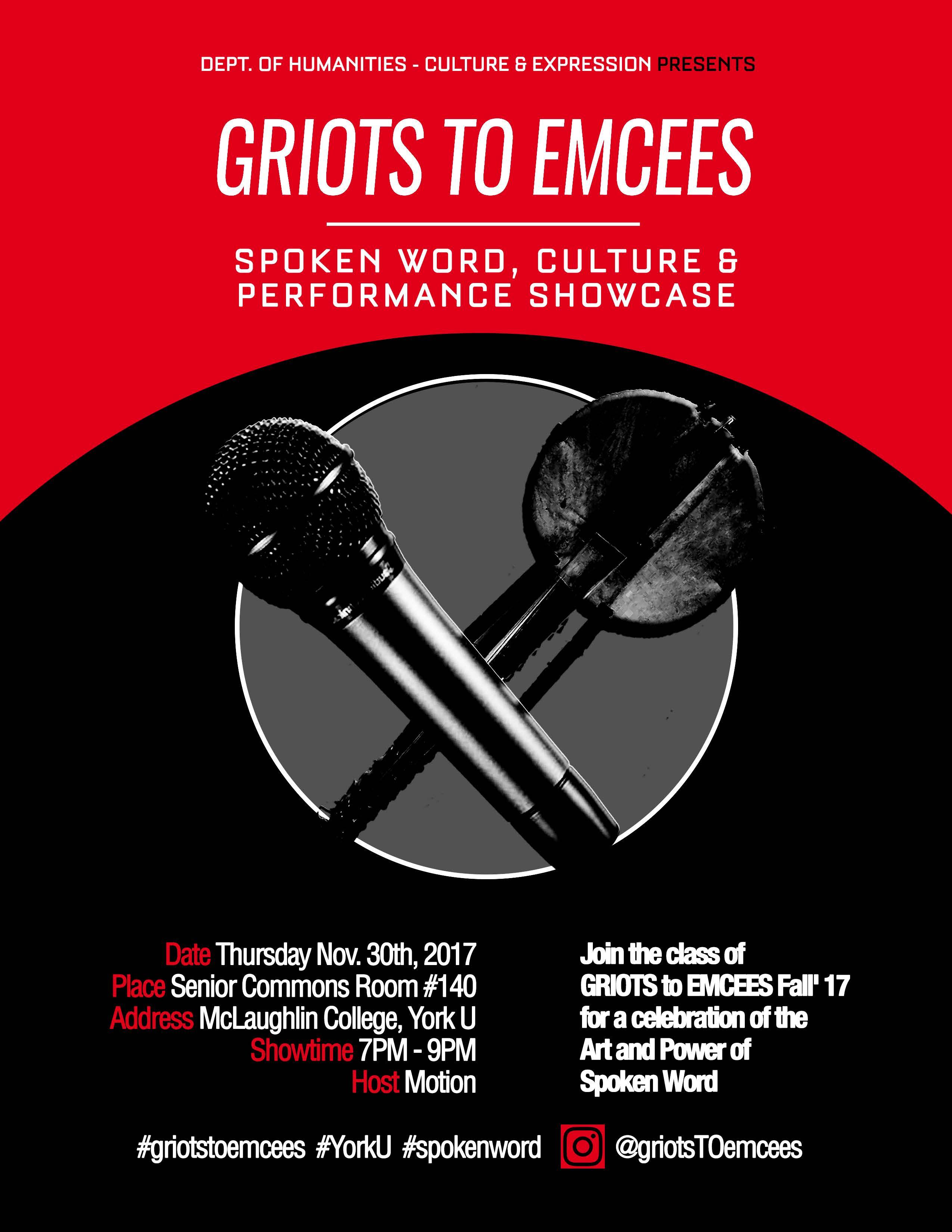 Griots to Emcees: Spoken Word Seminar