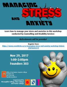 Managing Stress and Anxiety Workshop