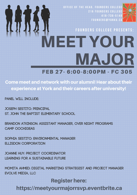 Meet Your Major @ 305 Founders College