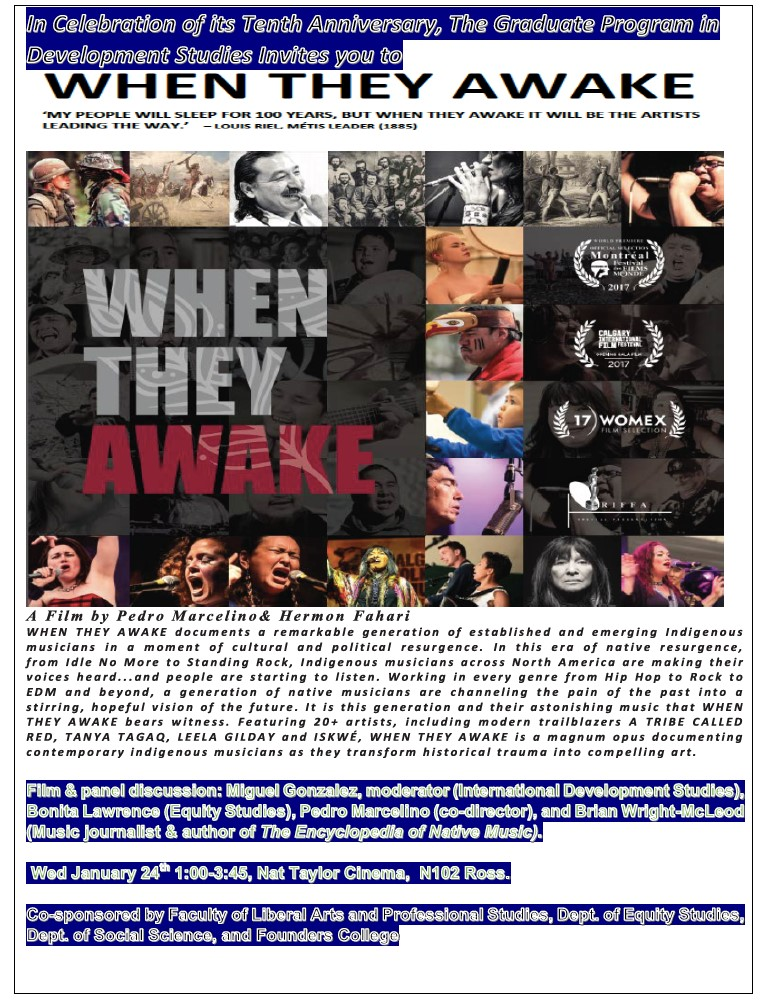 "York Screening & Panel Discussion of Award Winning Film ""When They Awake"" @ Nat Taylor Cinema, N102 Ross"