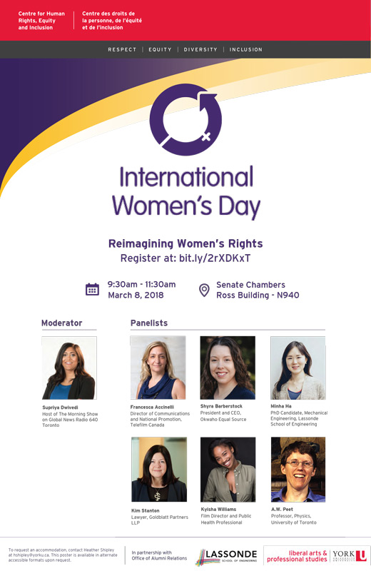 International Women's Day 2018 poster