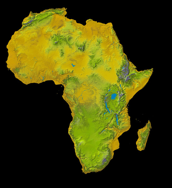 African Topographic map   2018-02