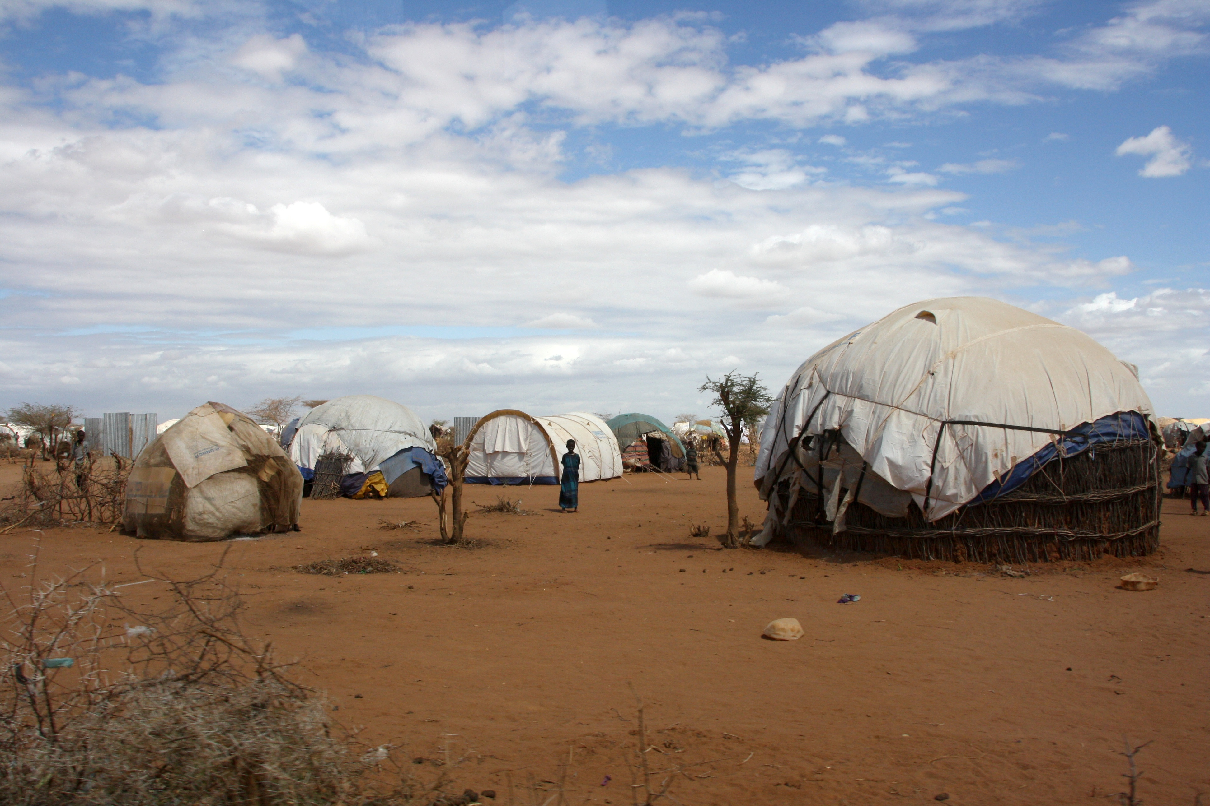 Secretary of State Andrew Mitchell visits the Dadaab refugee camp in northern Kenya, 16 July 2011.