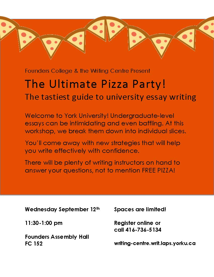 ultimate pizza party workshop