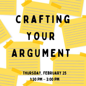 Crafting your argument @ Writing Centre Online