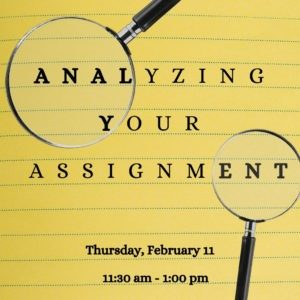 Analyze your assignment @ Writing Centre Online