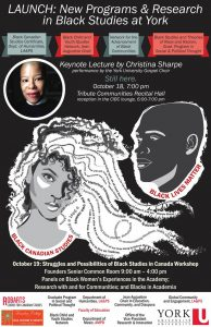 Black Canadian Studies Launch