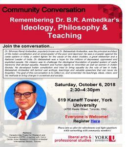 Community Conversation Ambedkar Poster