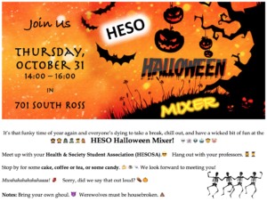 HESO Halloween Mixer! @ 701 Ross Building South