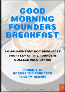 Good Morning Founders Breakfast Winter