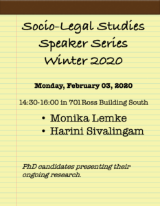Socio-Legal Studies (SLST) Speakers Series