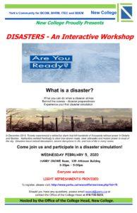 DISASTERS - An Interactive Workshop @ Harry Crowe Room
