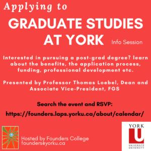 Applying to Graduate Studies at York