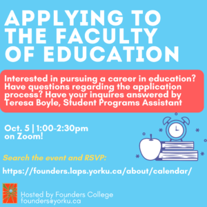 Faculty of Education Info Session