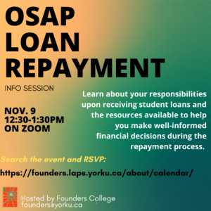 OSAP Loan Repayment Info Session