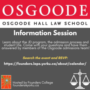 Osgoode Hall Law School Info Session