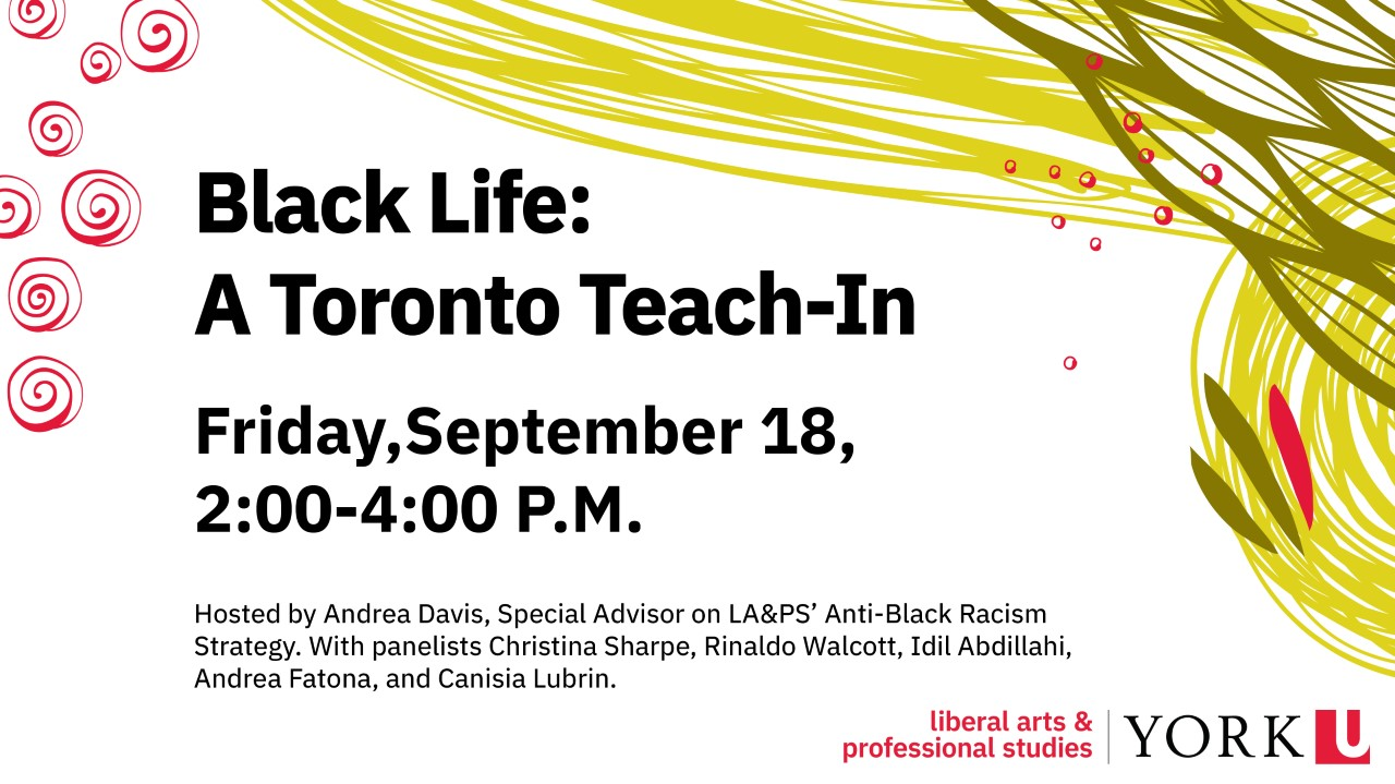 Poster of Black Life Toronto Teach In event