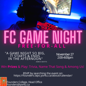 Founders College Game Night!