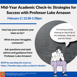 Mid-Year Academic Check-in with Professor Luke Arnason