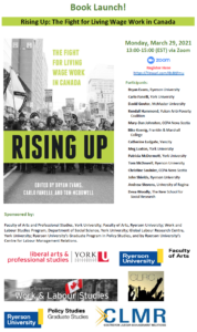 Book Launch! Rising Up: The Fight for Living Wage Work in Canada @ Zoom Launch