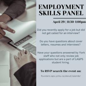 Employment Skills Panel